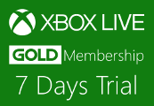 Xbox 360 Live 7 Day Gold Trial Membership