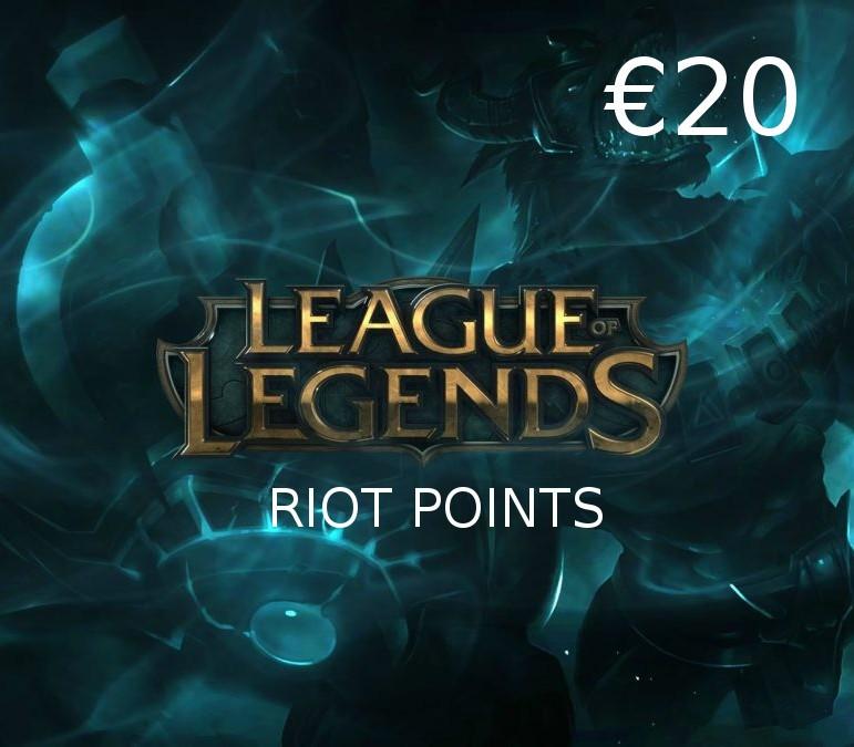 League Of Legends 20 Eur Prepaid Rp Card Eu Buy Cheap On Kinguin Net
