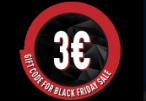 €3 Gift Code for Black Friday Sale /22-25.11.2018/