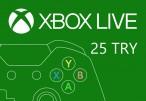 XBOX Live 25 TRY Prepaid Card TR