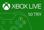 XBOX Live 50 TRY Prepaid Card TR