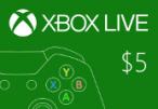 XBOX Live $5 Prepaid Card US