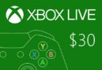 XBOX Live $30 Prepaid Card US