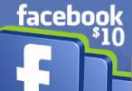 Facebook $10 Game Card