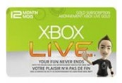 Xbox LIVE 12 Months Gold EU Subscription Card