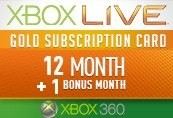Xbox LIVE 12 + 1 (13) Months Gold Subscription Card
