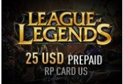 League of Legends 25 USD Prepaid RP Card US