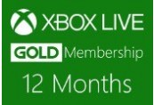 XBOX Live 12-month Gold Subscription Card UK