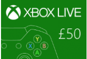 Xbox Live Reino Unido 50 GBP pré-pagos | Kinguin