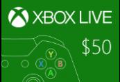 XBOX Live $50 Prepaid Card US