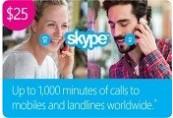 Skype Credit $25 US Prepaid Card