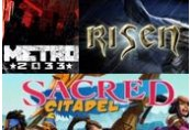 Metro 2033, Risen and Sacred Citadel Steam CD Key