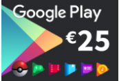 Google Play €25 EU - Eurozone only Gift Card
