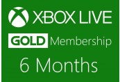 XBOX Live 6-month Gold Subscription Card