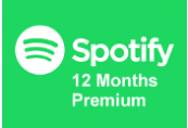Spotify 12-month Premium Gift Card US