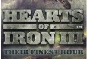 Hearts of Iron III - Their Finest Hour DLC Steam CD Key