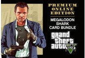 Grand Theft Auto V: Premium Online Edition & Megalodon Shark Card Bundle EU XBOX One CD Key