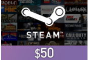 Steam Wallet Card $50 US Activation Code