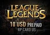 League of Legends 10 USD Prepaid RP Card US