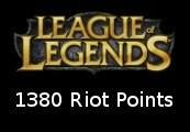 League of Legends 1380 RP Prepaid Card Korea