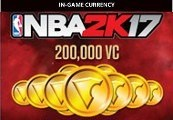 NBA 2K17 - 200,000 Virtual Currency XBOX One CD Key