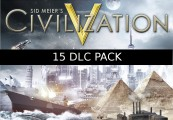 Sid Meier's Civilization V - 15 DLC Pack Steam CD Key