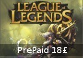 League of Legends 18 GBP Prepaid RP Card EUW & EUNE