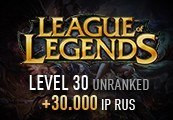 League of Legends Account - Level 30 - Unranked + 30.000 IP RUS