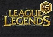League of Legends 5 USD Prepaid RP Card US