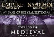 Empire and Napoleon Total War Collection - Game of the Year + Medieval Total War Collection Steam CD Key