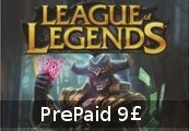 League of Legends 9 GBP Prepaid RP Card EUW & EUNE