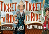 Ticket to Ride: Switzerland DLC + Legendary Asia DLC Steam CD Key