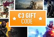 €3 Gift Code - One per Account!