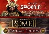 Total War: Shogun 2 + Fall of the Samurai + Rome II: Emperor Edition Steam CD Key