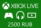 XBOX Live 2500 RUB Prepaid Card RU