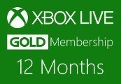 XBOX Live 12-month Gold Subscription Card EU