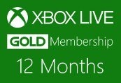 XBOX Live 12-month Gold Subscription Card DE