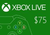 XBOX Live $75 Prepaid Card US
