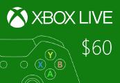 XBOX Live $60 Prepaid Card US