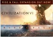 Sid Meier's Civilization VI + Rise and Fall DLC EU Steam CD Key