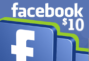 Facebook $10 Game Card