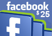 Facebook $25 Game Card