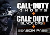 Call of Duty: Ghosts + Black Ops II + Black Ops II Season Pass UNCUT Steam CD Key