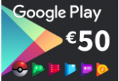 Google Play €50 EU - Eurozone only Gift Card