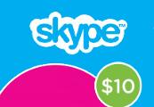 Skype Credit $10 US Prepaid Card