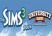 The Sims 3 + University Life DLC Steam Gift