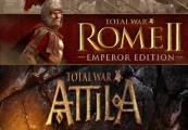 Total War: ATTILA + Total War Rome II: Emperor Edition EU Steam CD Key