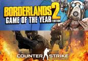 Counter Strike Global Offensive + Borderlands 2 GOTY Action Bundle