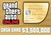 Grand Theft Auto Online - $3,500,000 The Whale Shark Cash Card PS4 CD Key