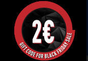 €2 Gift Code for Black Friday Sale /22-25.11.2018/
